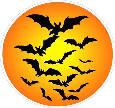 halloween clipart halloween haunted moon with bats wall decor decal