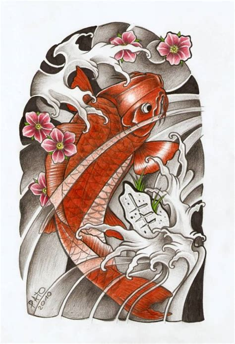 traditional koi fish tattoo designs koi ideas and koi designs page 4