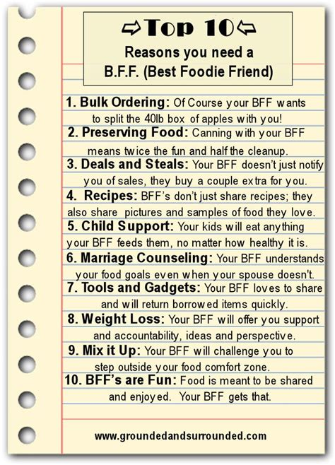 7 Reasons To Trim Your Friends List by Best Foodie Friend Tops Friends And Kid