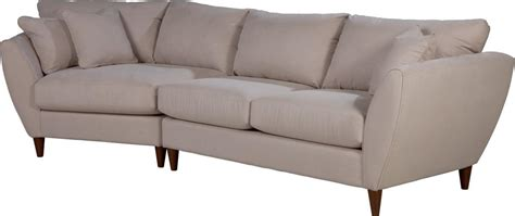 contemporary two sectional sofa with ras cuddler by