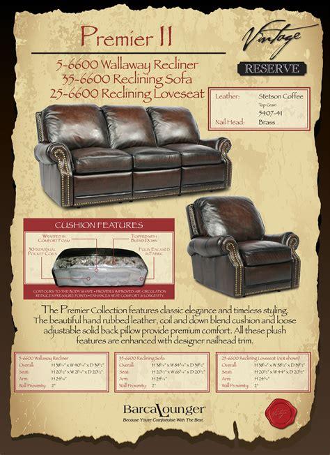 barcalounger premier reclining sofa barcalounger premier ii proximity wall hugger leather