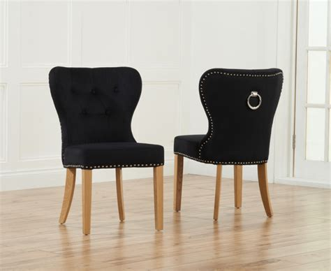 Knightsbridge Studded Grey Fabric Oak Leg Dining Chairs Studded Dining Room Chairs