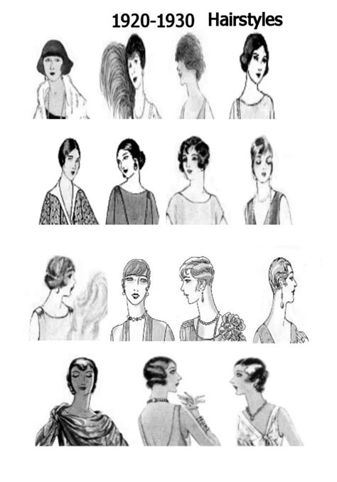 hairstyles throughout history 1920s pictures hats 20s hair style fashions