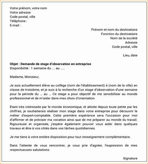 Lettre De Motivation Stage Génie Civil 10 exemple de lettre de motivation pour un stage exemple lettres