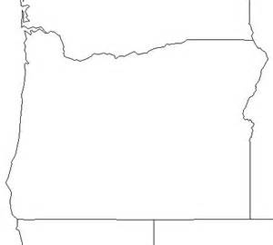 free blank outline map of oregon