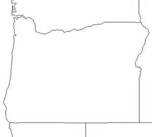 outline map of oregon free blank outline map of oregon