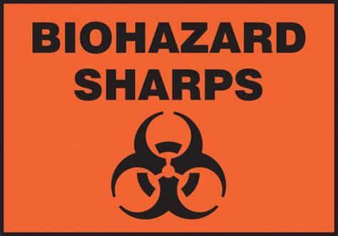 printable biohazard label biohazard sharps safety sign lbhz504