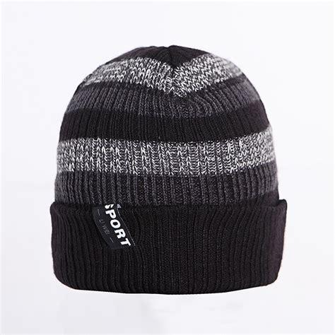 Topi Hat mens topi musim dingin set kepala cap hat di luar ruangan ski topi rajutan topi untuk