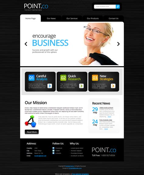 html5 business template templates perfect