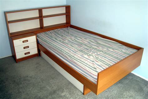 twin bed with side headboard twin platform bed with attached headboard side table and