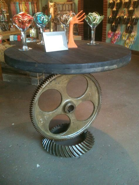 gear table gears steampunk furniture coffee shop