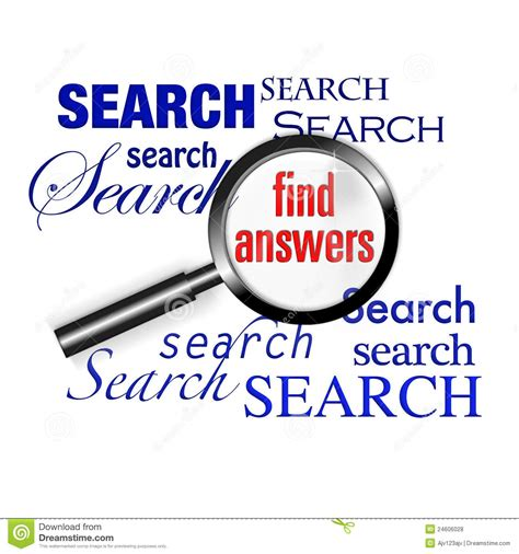 Find Photos Of Search Find Answers Magnify Glass Stock Illustration