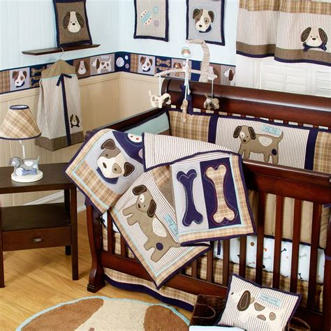 The Snickerdoodle Shop Brody S Puppy Dog Nursery Puppy Crib Bedding