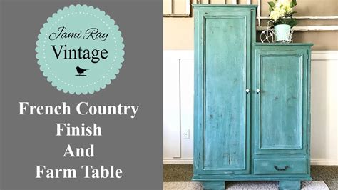 french country finish  farm table youtube