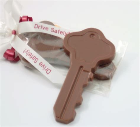 Chocolate Giveaways - chocolate key housewarming favors