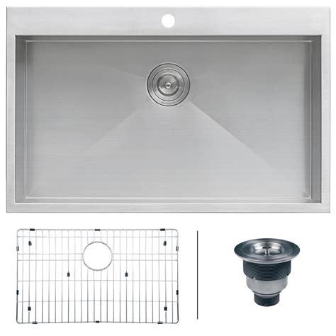 home depot kitchen sinks top mount ruvati drop in top mount stainless steel 33 in 16 gauge