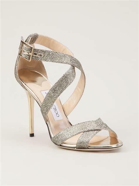 jimmy choo gold sandals jimmy choo lottie sandal in gold metallic lyst