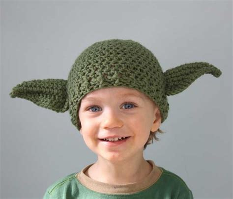 yoda knit hat crocheted wars hats lightsabers and