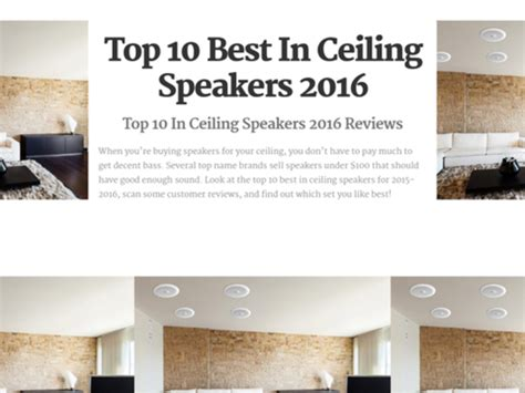top 10 best in ceiling speakers reviews a listly list