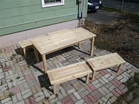 mortise and tenon bench 110 mortise and tenon joints outdoor table and benches by jdh122 lumberjocks com