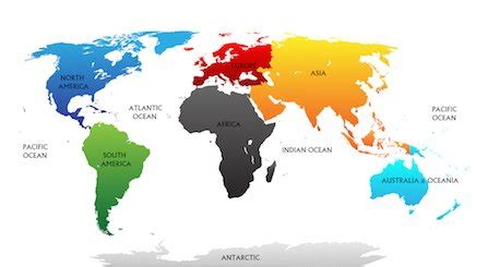 continent facts the 7 continents geography for kids