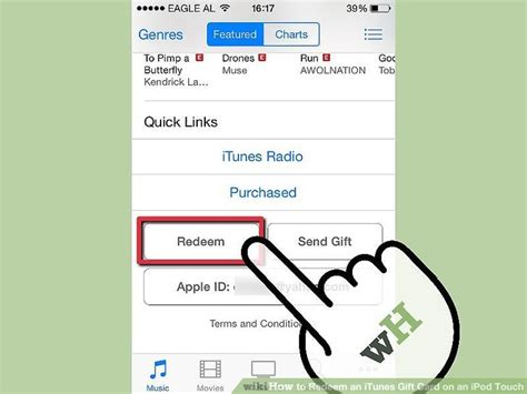 Ipod Touch Gift Card - how to redeem an itunes gift card on an ipod touch 5 steps