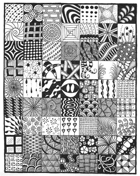 zentangle pattern squares sler ford zentangles and doodles