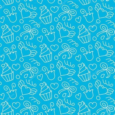pattern cute blue sweet blue seamless pattern stock vector 169 vladayoung