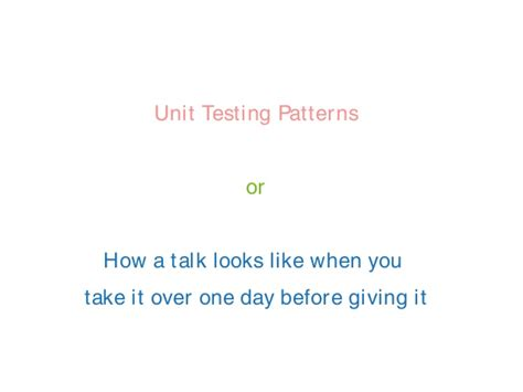 bridge pattern unit test unit testing patterns