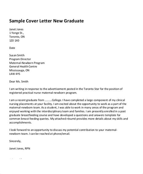 Cover Letter Graduate Student by 29 Application Letter Exles Free Premium Templates