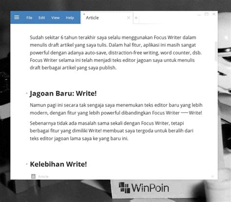 blogger penulis write teks editor windows terbaik untuk blogger dan