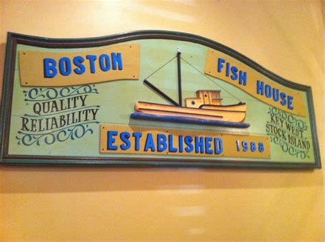 Boston Fish House by Sign Above A Booth Photo De Boston S Fish House Winter