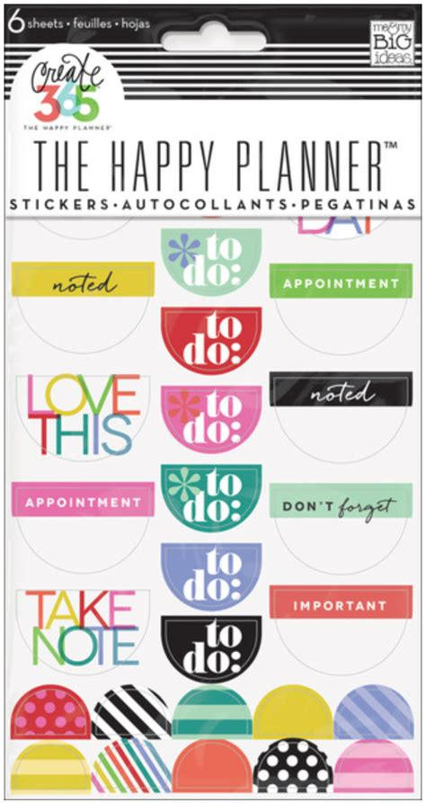to do stickers create 365 the happy planner meal planner put to