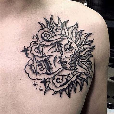 imagenes del sol y la luna para tatuar tatuajes de sol y luna ideas originales para mujeres