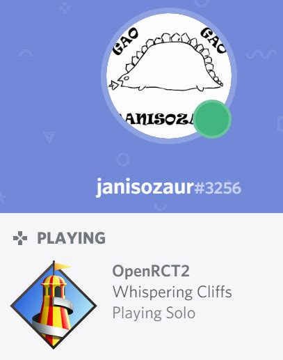 discord rich presence discord rich presence integration is now live openrct2
