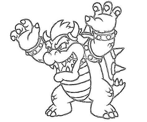 mario coloring pages bowser jr bowser jr coloring pages print coloring home