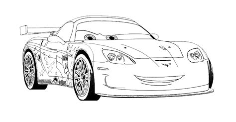 cars 2 coloring pages jeff gorvette pin jeff gorvette coloriag on pinterest