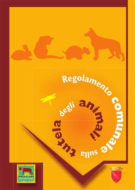 ufficio diritti animali animali regolamento comunale sulla tutela degli animali