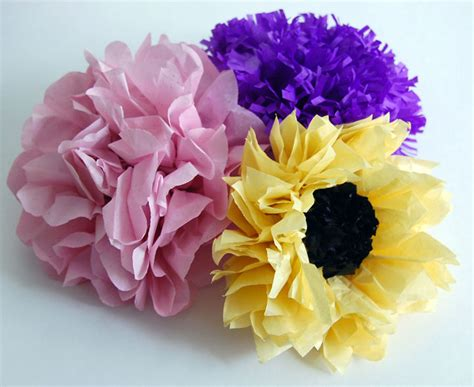 How To Make Tissue Paper Flowers Without Pipe Cleaners - how to make a flower out of tissue paper step by how to