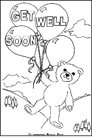 Get Well Soon Printable Coloring Pages printable get well soon colouring pages