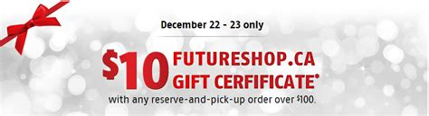 Future Shop Gift Card - future shop canada deals get a free 10 gift card when you spend 100 reserve pick