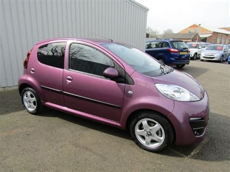 peugeot purple peugeot 107 1 0 allure 5dr purple for sale sleaford