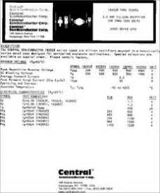 1n4004 diode cross reference 1n3940 datasheet