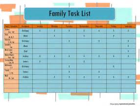 house chore schedule template family task chores list calendar printable pdf instant