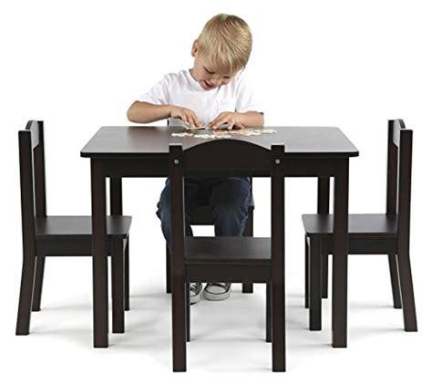 tot tutors wood table and chair set colors tot tutors wood table and 4 chairs set espresso