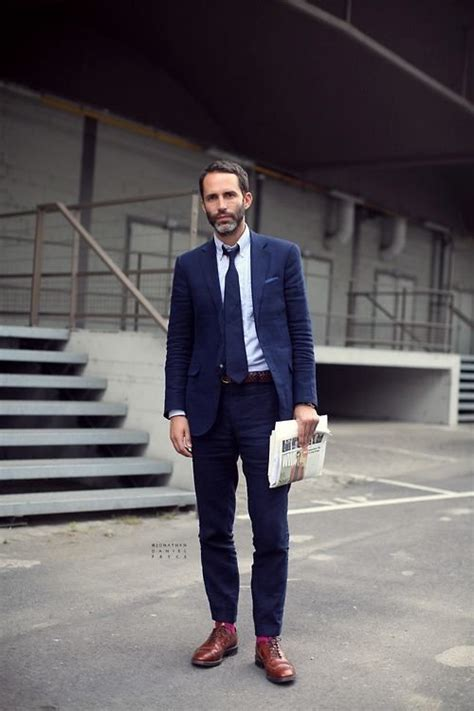 what color socks with navy suit beard and suit and brogues marlboro