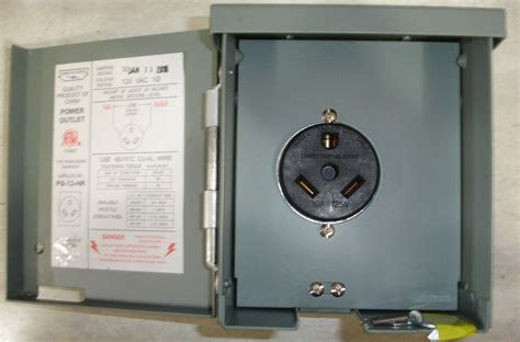 rv power outlet  amp outdoor type rainproof  volt ps  hr ebay