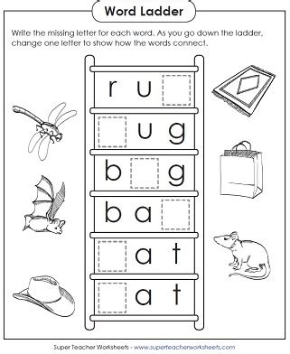 printable word ladder games basic word ladder puzzle worksheets for teaching phonics