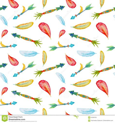 clipart seamless arrow pattern remix seamless pattern of watercolor feathers and romantic