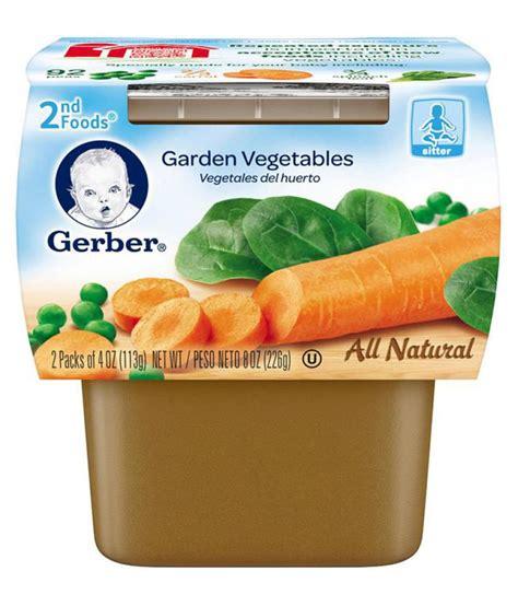 vegetables 6 months gerber garden vegetables snack foods for 6 months 226